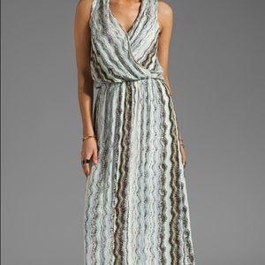 Ella Moss Gray Zuma Print Maxi Dress